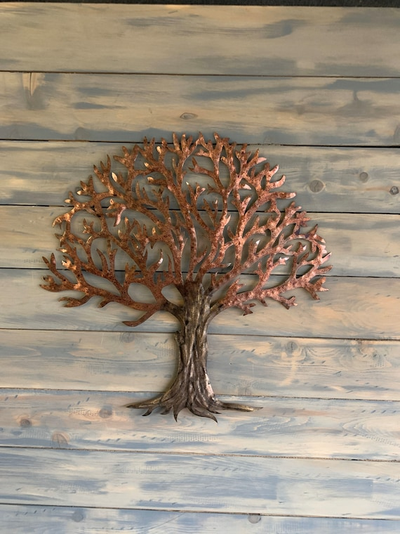 Patina Steel  Tree  -  Colorful Tree   - Home Decor Tree     -     Metal Wall Art