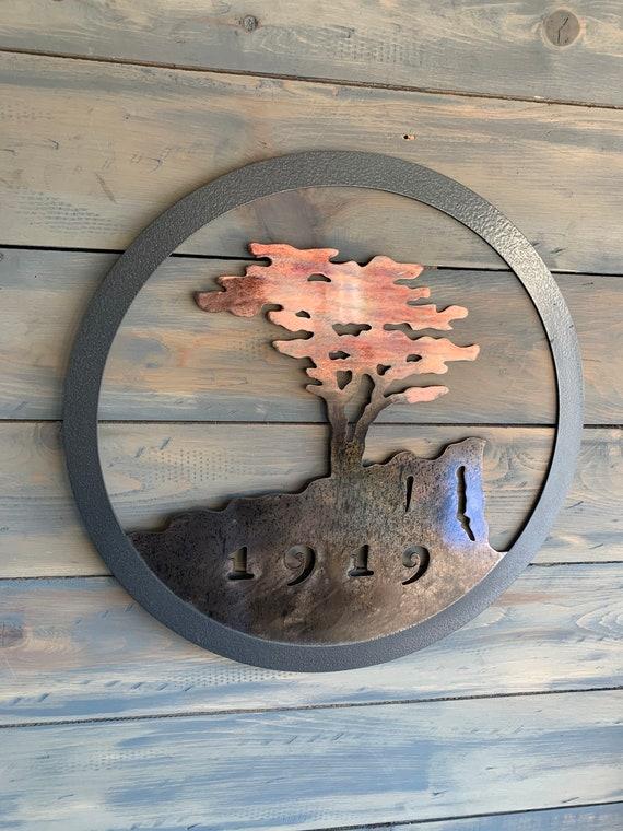 Pebble beach  - Lone Cypress  - 1919  Monterey   -  Home Decor   -   Metal Wall Art