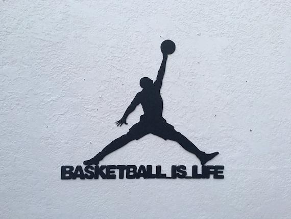 Basketball is Life - Basketball Sign - Basketball  - Home Decor  - Metal Art Hanging