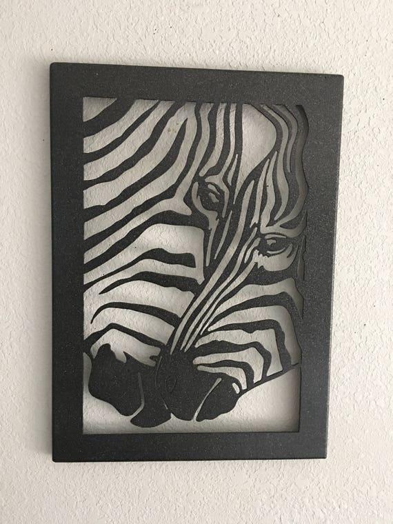 Zebra Metal Art  -  Zebra Picture  - Home Decor  - Metal Wall Art