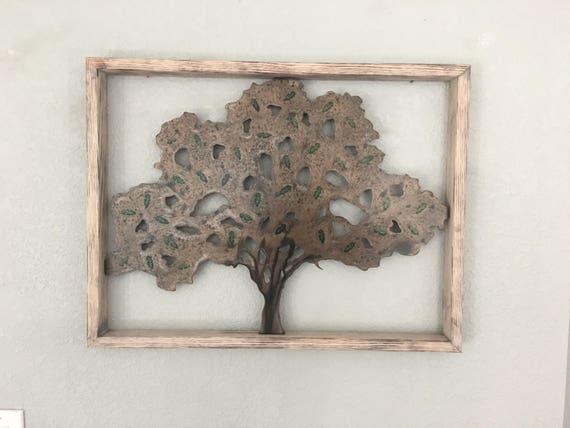 Beautiful Oak tree in a wood frame