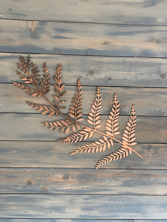 Fern Leaf    -  Fern     Home DEcor     Steel Fern Branch   -  Wall Hanging