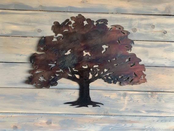 Oak Tree  -  Metal Tree Art  - Wall Art