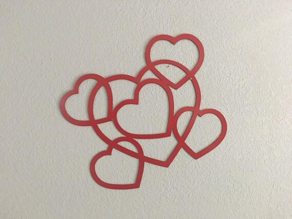 Happy Valentine's Day-Metal Hearts - I love You - Metal Art -Home Decor