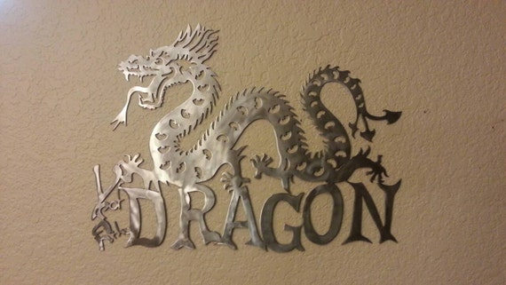 Year of the Dragon - Metal Dragon - Dragon Zodiac - Metal Art - Wall Decor