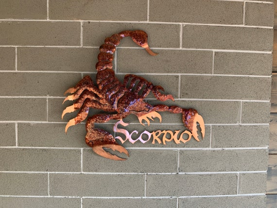 Scorpio - Scorpio Sign - Horoscope - Scorpion - Metal Art - Home Decor -