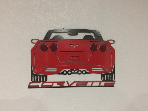 Corvette - Metal Corvette Wall Art , Art Decor , Car Wall Art  - Home Decor - Corvette Sign
