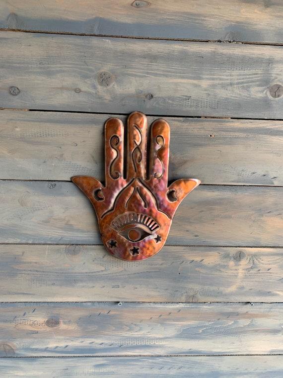 Hamsa  Hand of Cooper Art - Hamsa Hanging - Home Decor