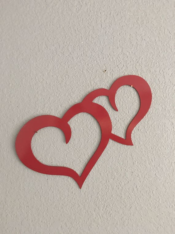 Metal Hearts - I love You - Metal Art -Home Decor