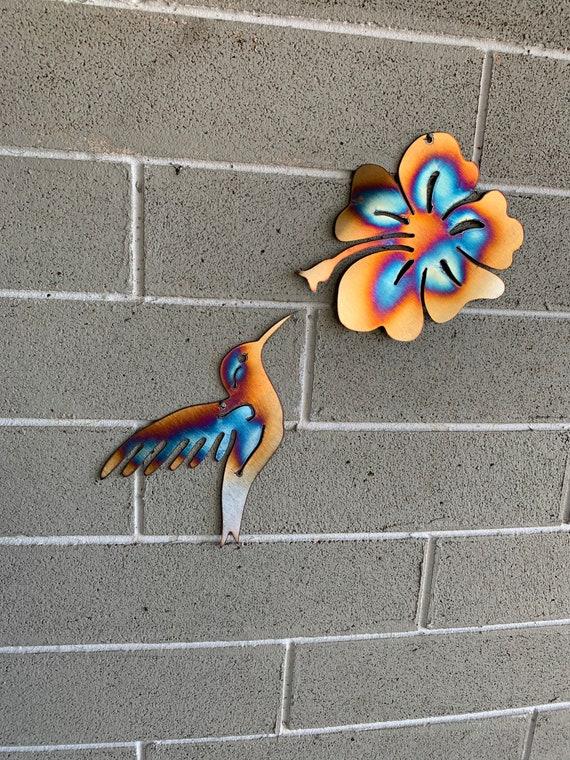Humming Bird & Flower  -Wall Art - Home Decor