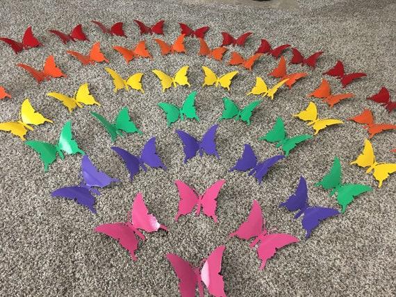Butterflies - Metal Wall Art - Metal Butterflies - Home Decor - colorful butterflies