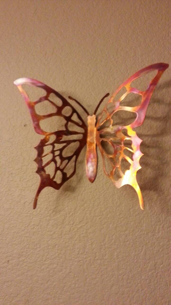 Metal Butterfly   Copper Butterfly   Wall Decor   Butterfly   Home Decor    Wall Hanging   Wall Art