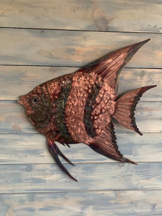 Metal  Angel Fish    Home Decor   Metal Wall Art