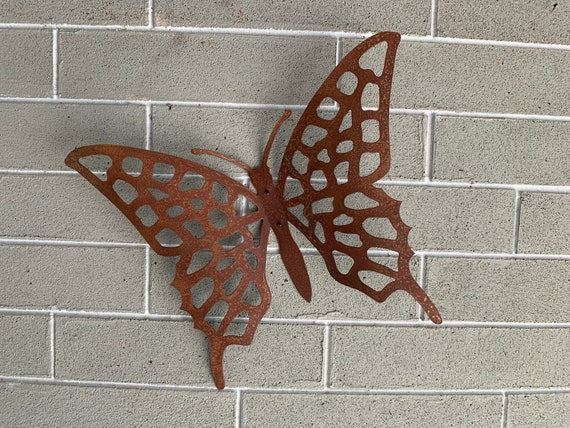Rustic Metal Butterfly - Home Decor - Wall Art - Metal Art  - Wall Hanging