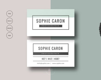 Printable business card premade business card template premade business card template printable business card design for photographer diy business card calling card photoshop template wajeb Gallery