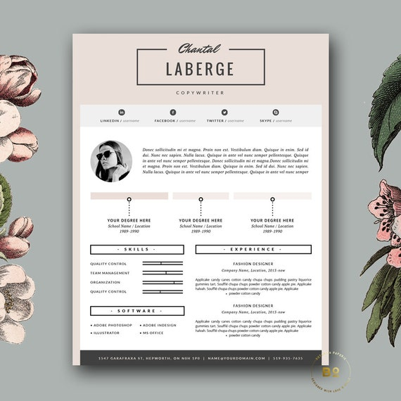 3 Page Resume Template CV Cover Letter For MS