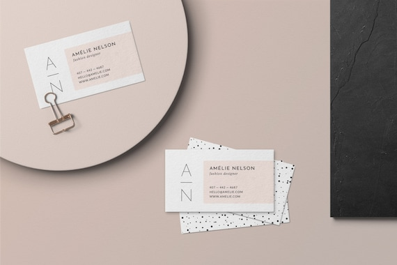 Beauty Business Card Design Psd Business Card Template Etsy