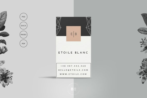 2 premade business card templates set of 2 printable reheart Choice Image