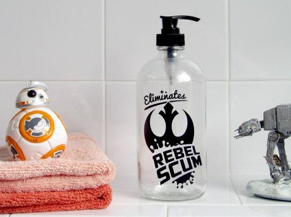 Rebel Scum Glass Soap Dispenser Star Wars Bathroom Decor Etsy