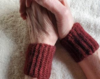 Cashmere wristies, wrist warmers