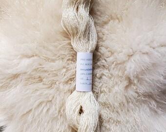 Handspun Cashmere Yarn, white 2-ply