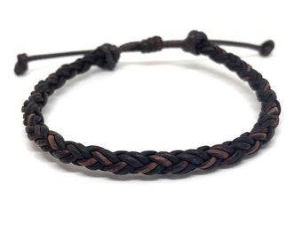 Braided Bracelet, Antique Brown Leather, Boys Favors, Daddy and Son Bracelet, Unisex, Family Bracelets