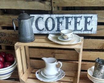 Farmhouse Kitchen Coffee Decor - Rustic Wood Coffee Sign - Coffee Lover Gift - Coffee Sign - Farmhouse Decor - Farmhouse Kitchen Sign