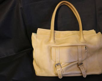leather vintage handbag made by booden
