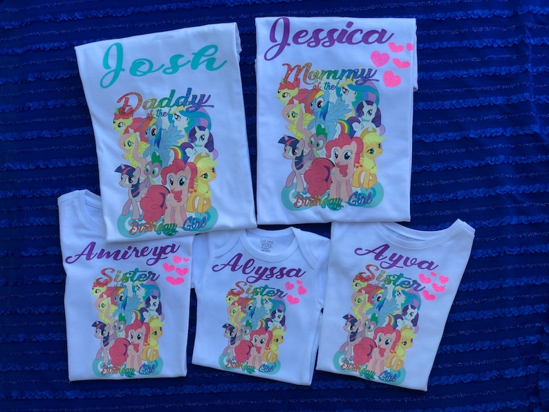 MY LITTLE PONY inspired family Shirts cousin brother sister mommy daddy Grandpa Grandma Granny Auntie uncle