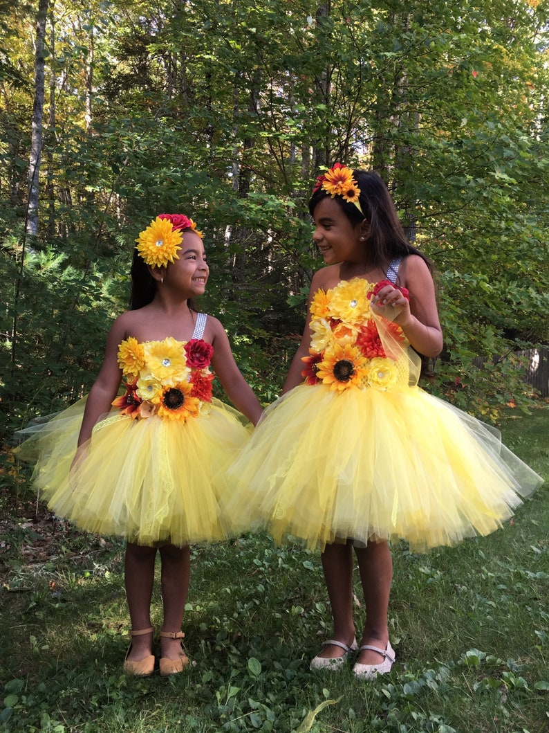 f3bfb2ac3 Yellow orange red any color flower girl tutu dress pageant | Etsy