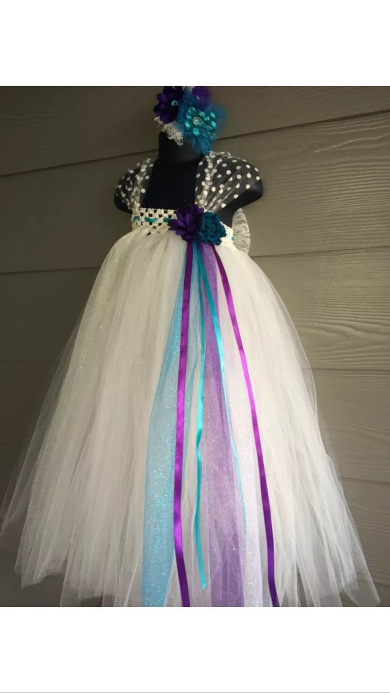 Blue silver tutu dress 0-5T Baby girl Toddlers pageant wedding Easter Christmas