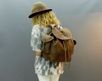 Sale! Brown leather backpack Leather bag personalized Leather bag backpack Leather Handmade Backpack  Leather Travel backpack