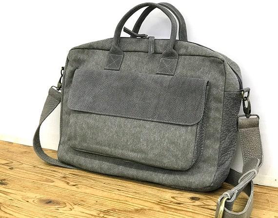 8530d0efa5c Sale Waxed Canvas Leather messenger bag   Etsy