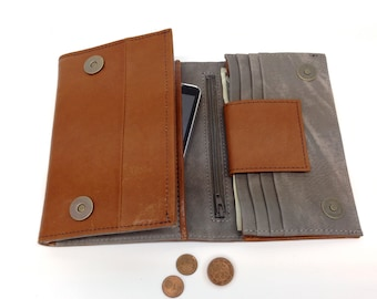 SALE! Wallets Womens wallet Brown wallet woman leather trifold wallet Handmade Wallet Woman's wallets leather trifold wallet