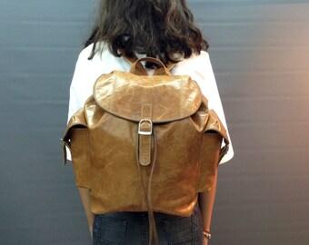 Sale! Leather Backpack Women backpack purse Leather brown backpack Leather Women leather laptop bag school backpack handmade backpack