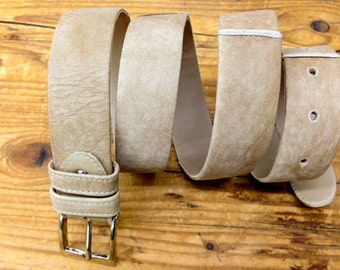 Sale!!! Women's leather belt, Distressed leather belt women beige leather belt handmade belt leather