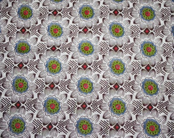 """""""African flowers"""" cotton fabric coupon"""