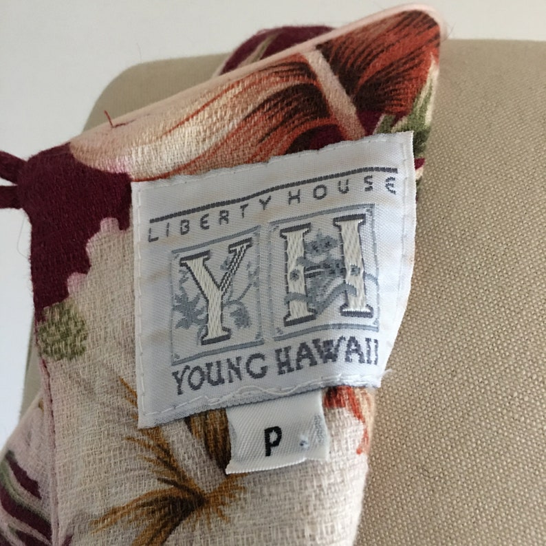 Vintage 60/'s Liberty House Hawaiian Back Key Hole dress Hawaii luau Bark Cloth Beach Party Cotton Small