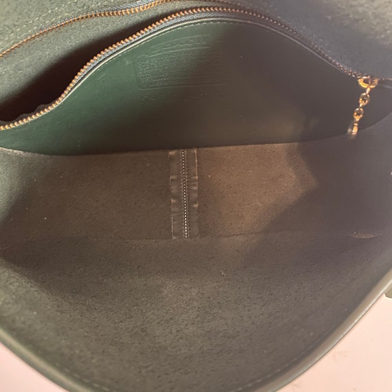 1980s Coach City Bag Hunter Green Leather Classic… - image 8