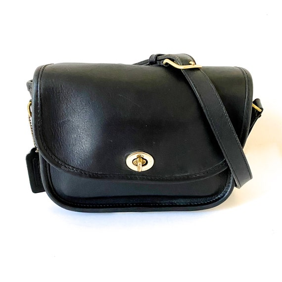 Coach NYC COLLEGIATE Bag Black Leather Coach Purse