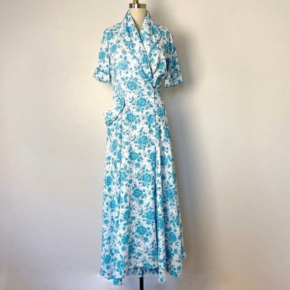 1940s Vintage Dressing Gown Housecoat Robe Dress s