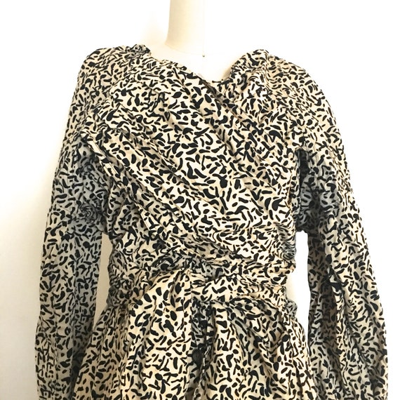 1980s KRIZIA cotton khaki leopard inspired print j