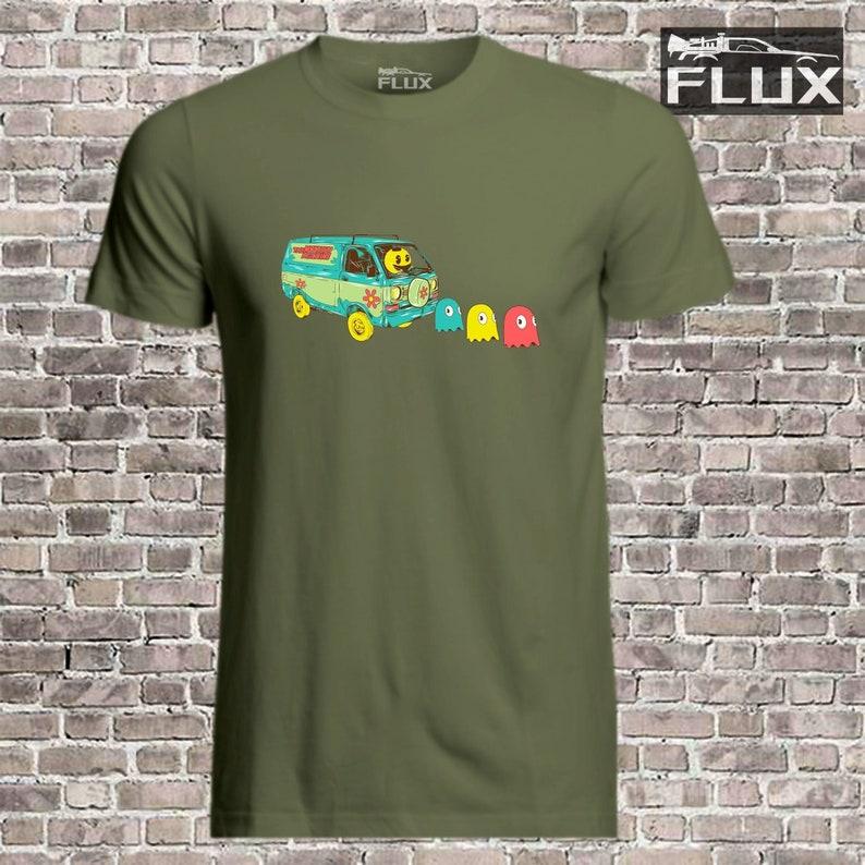 Men's Pac-Man Driving The Mystery Machine Scooby Doo T-shirt