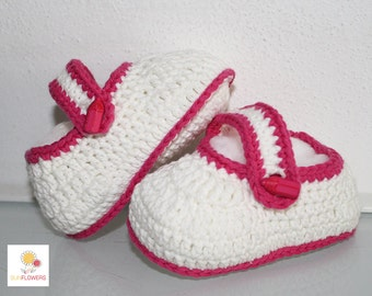 Handmade crochet baby booties, gift idea