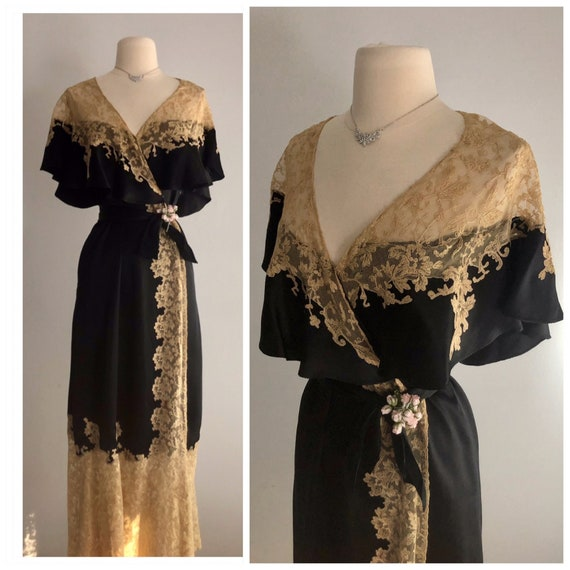 Old Hollywood Glamour Art Deco 1930's 30s silk Lux