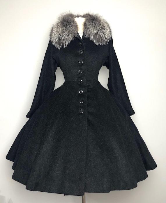 1950's New Look Vintage Fit n Flare Princess Coat