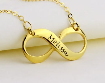 Personalized Infinity Necklace,Custom Infinity Charm,Custom Name Necklace,Nameplate Necklace,Name Necklace,Engraved necklace