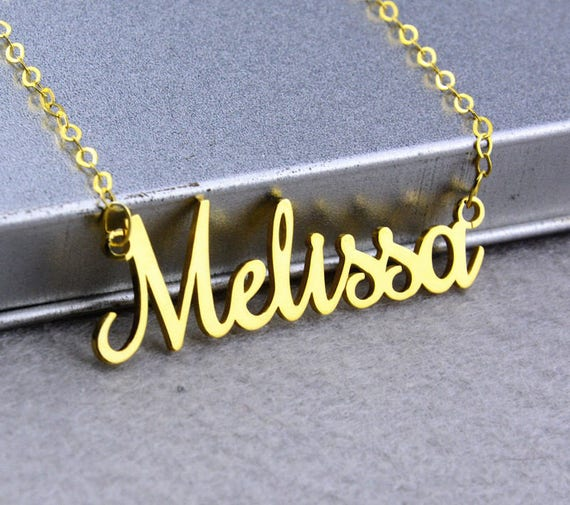 f6f97a416d804 Personalized Name Necklace,Custom Nameplate Necklace,Gold Necklace,Dainty  Necklace,Name Charm,Name Pendant,Personalized Jewelry N180