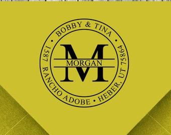 Return Address Stamp, Personalized Stamp, Monogram Custom address Stamp, Self inking address stamp