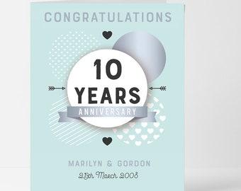 10 anniversary card etsy